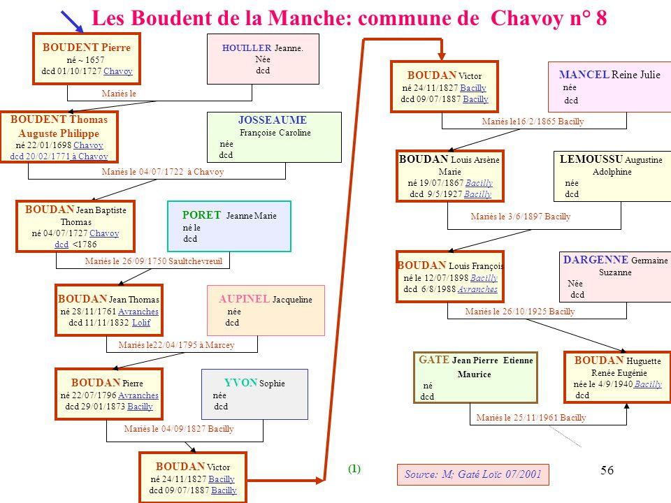 Les Boudent de la Manche: commune de Chavoy n° 8