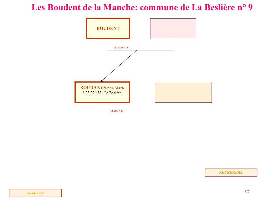 Les Boudent de la Manche: commune de La Beslière n° 9