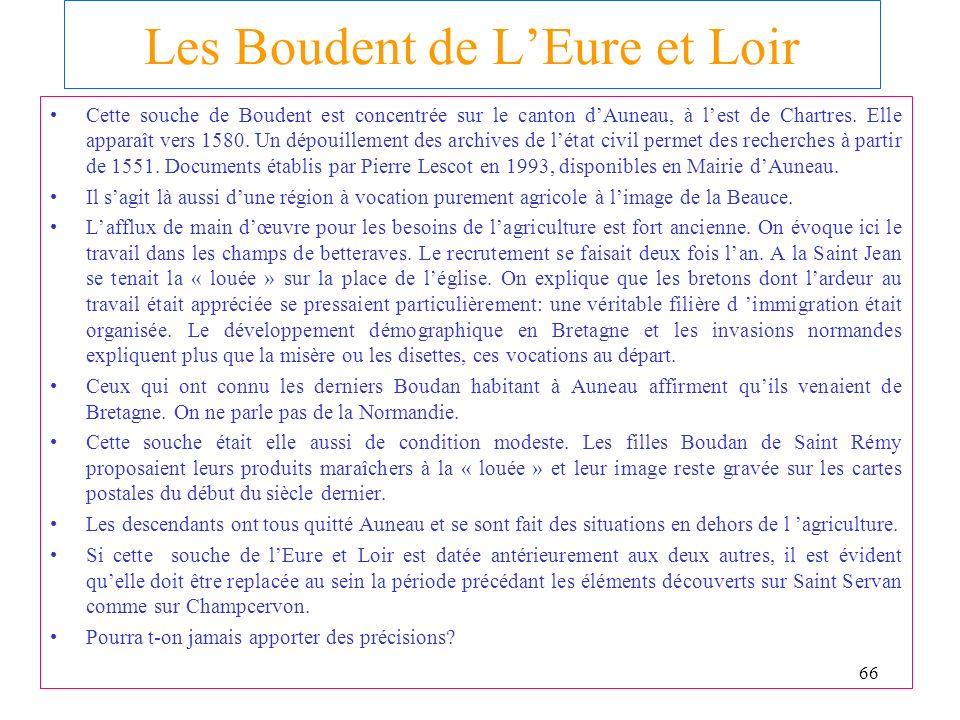 Les Boudent de L'Eure et Loir