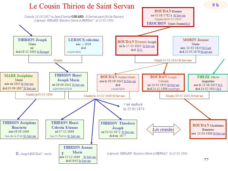 Le Cousin Thirion de Saint Servan