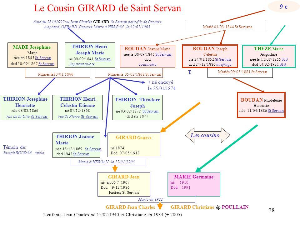 Le Cousin GIRARD de Saint Servan