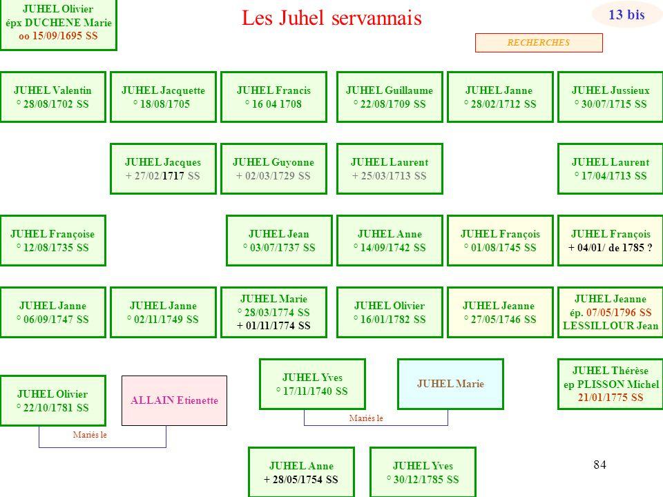 Les Juhel servannais 13 bis JUHEL Olivier épx DUCHENE Marie