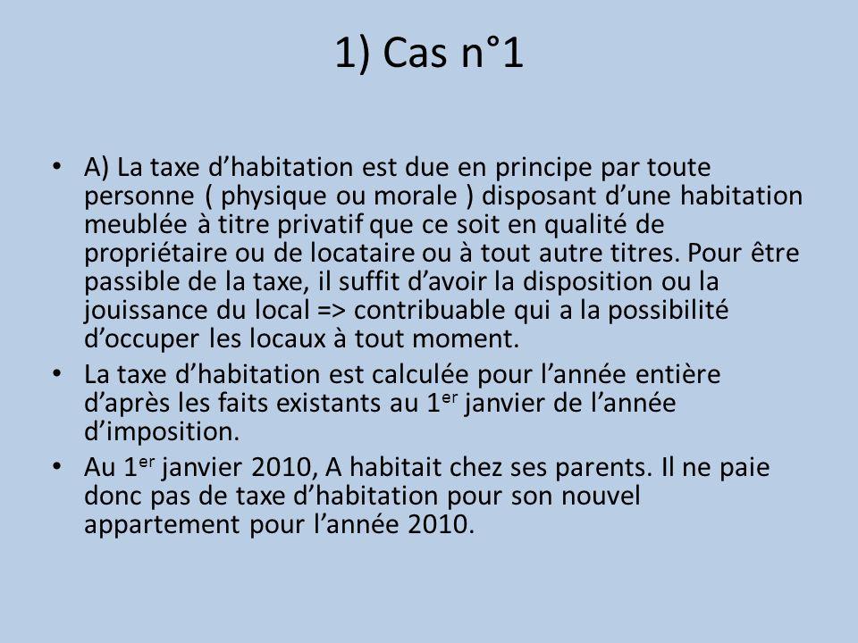 1) Cas n°1