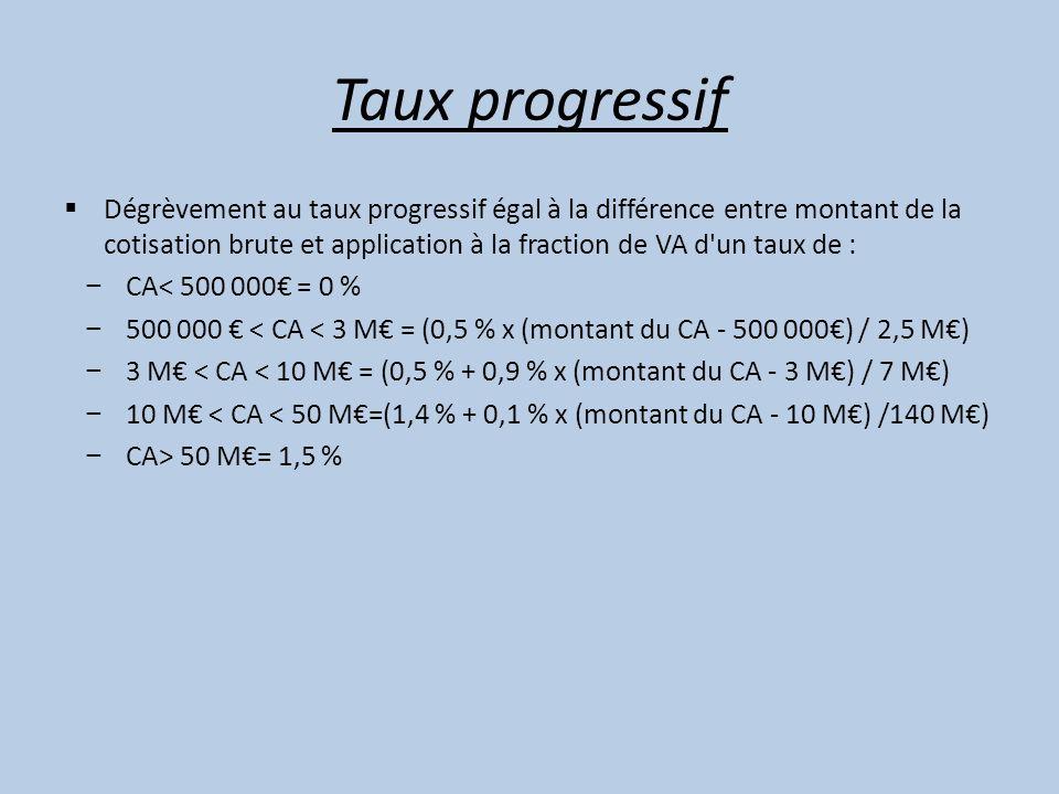Taux progressif