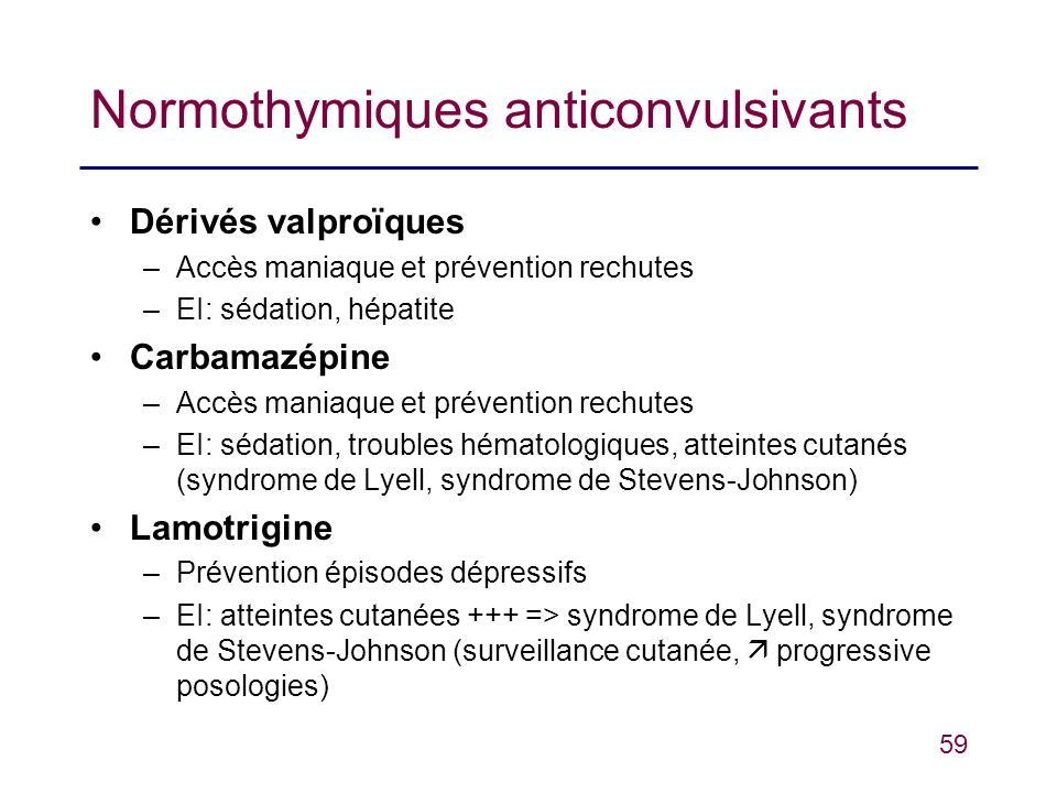 Normothymiques anticonvulsivants