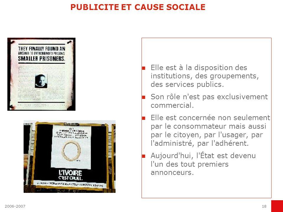 PUBLICITE ET CAUSE SOCIALE