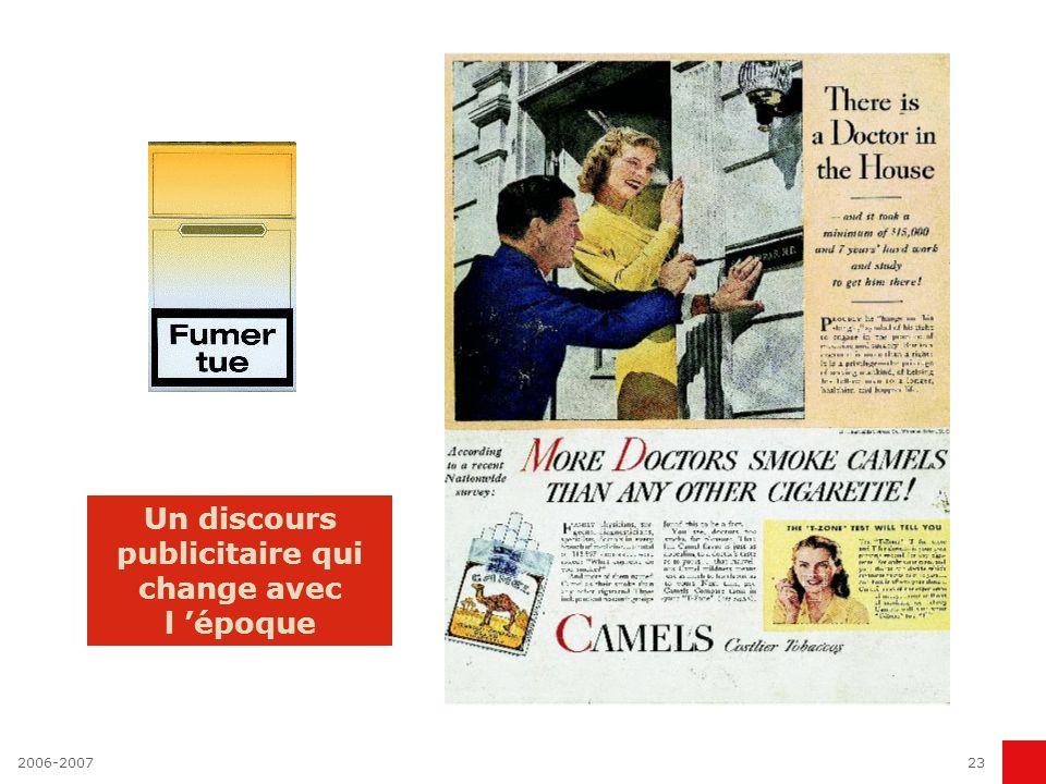 Un discours publicitaire qui change avec l 'époque