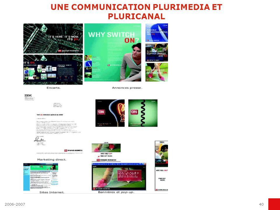 UNE COMMUNICATION PLURIMEDIA ET PLURICANAL