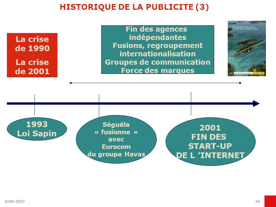 HISTORIQUE DE LA PUBLICITE (3)