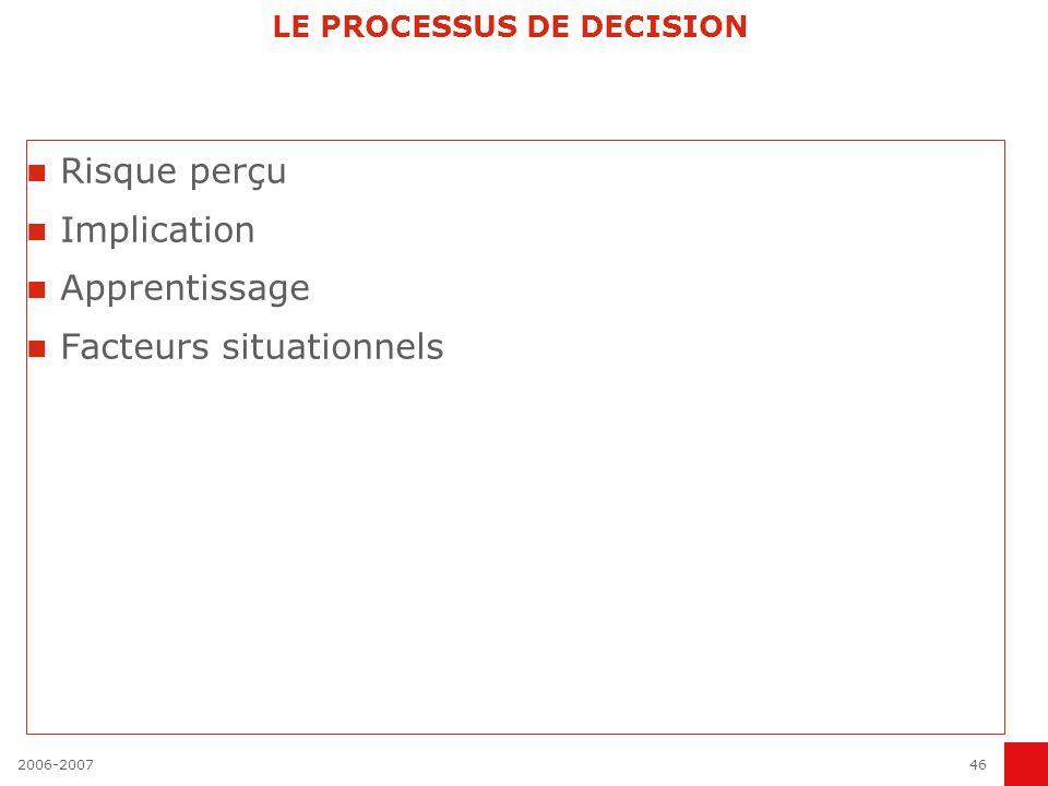 LE PROCESSUS DE DECISION