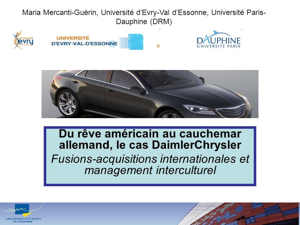 Du rêve américain au cauchemar allemand, le cas DaimlerChrysler