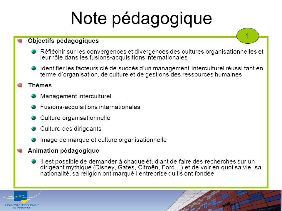 Note pédagogique 1 Objectifs pédagogiques