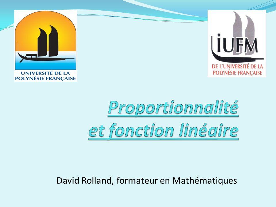 Proportionnalité et fonction linéaire