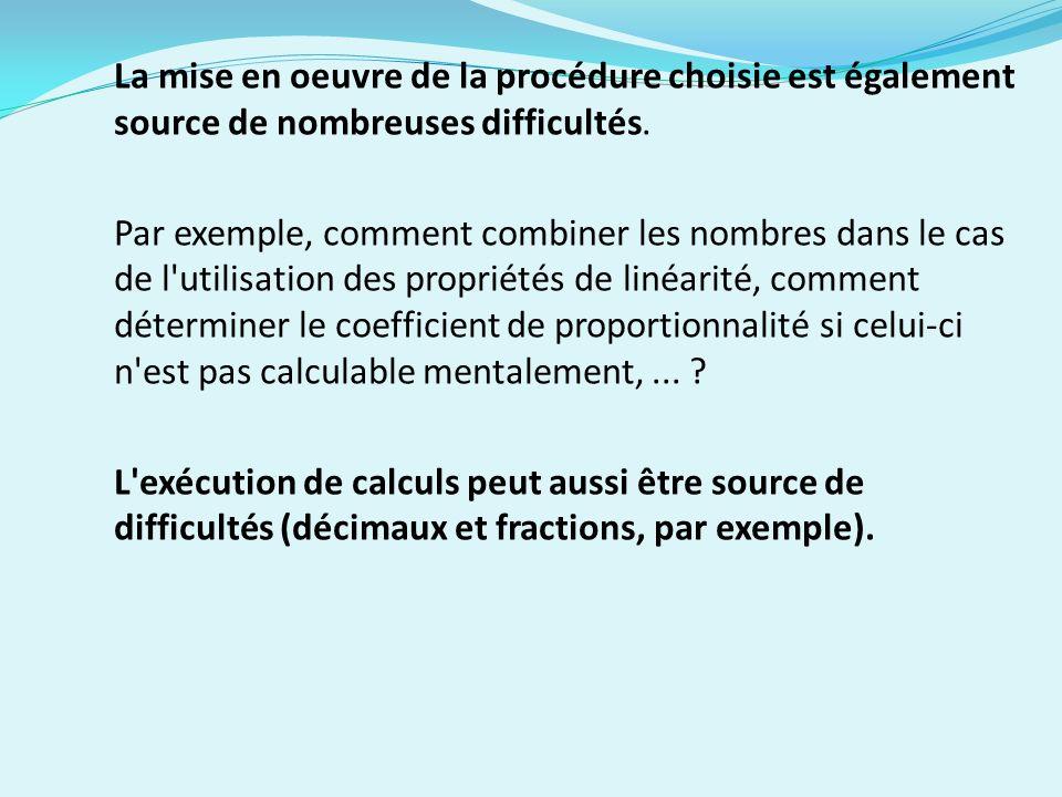 La mise en oeuvre de la procédure choisie est également source de nombreuses difficultés.