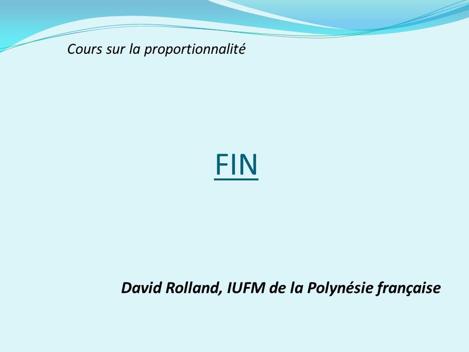 FIN David Rolland, IUFM de la Polynésie française