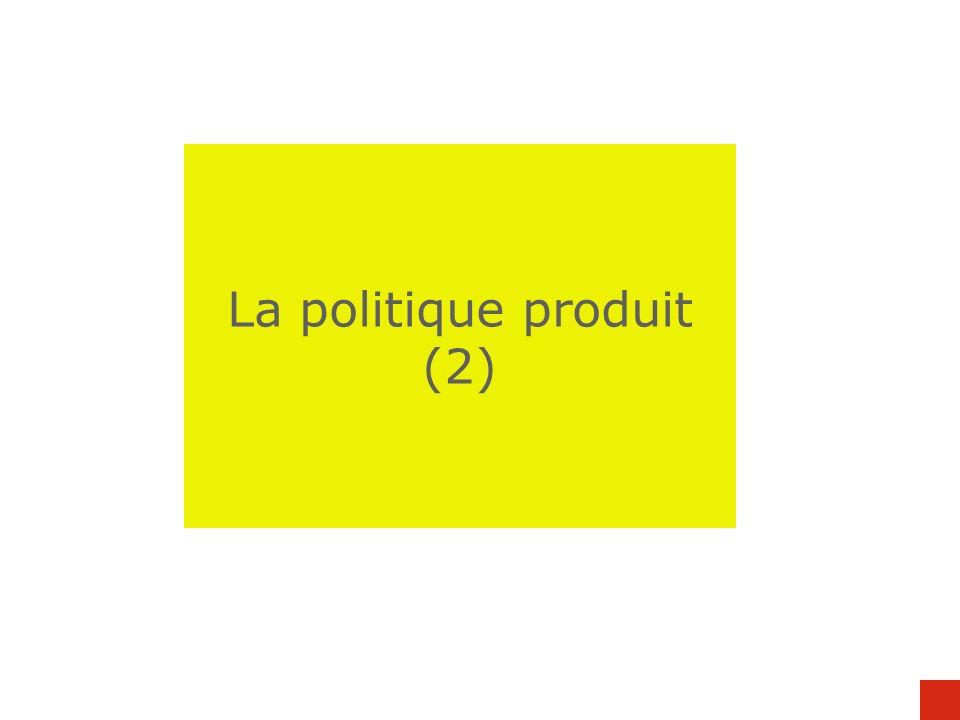 La politique produit (2)