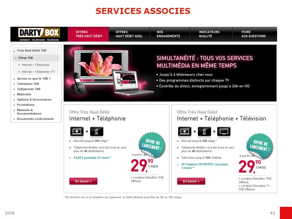 SERVICES ASSOCIES 2009