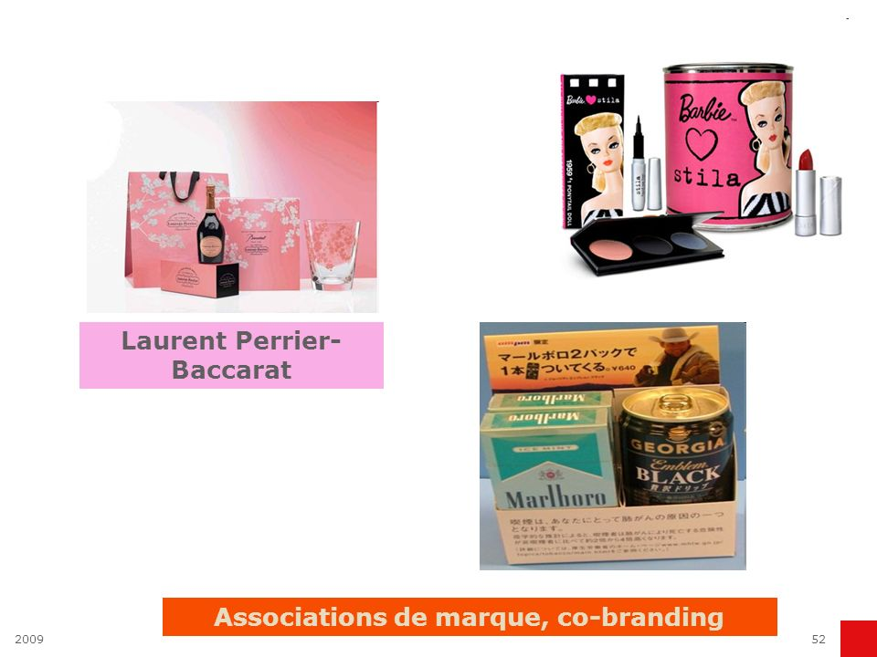 Laurent Perrier- Baccarat Associations de marque, co-branding