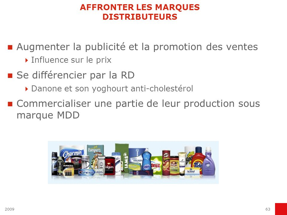 AFFRONTER LES MARQUES DISTRIBUTEURS