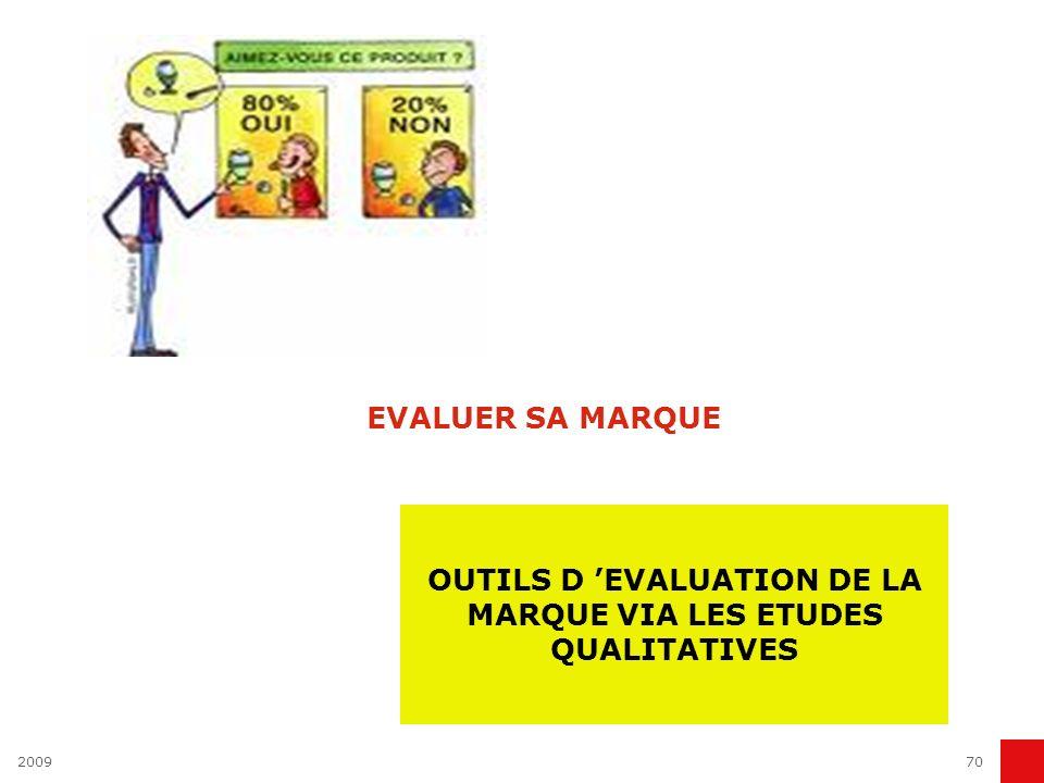 OUTILS D 'EVALUATION DE LA MARQUE VIA LES ETUDES QUALITATIVES