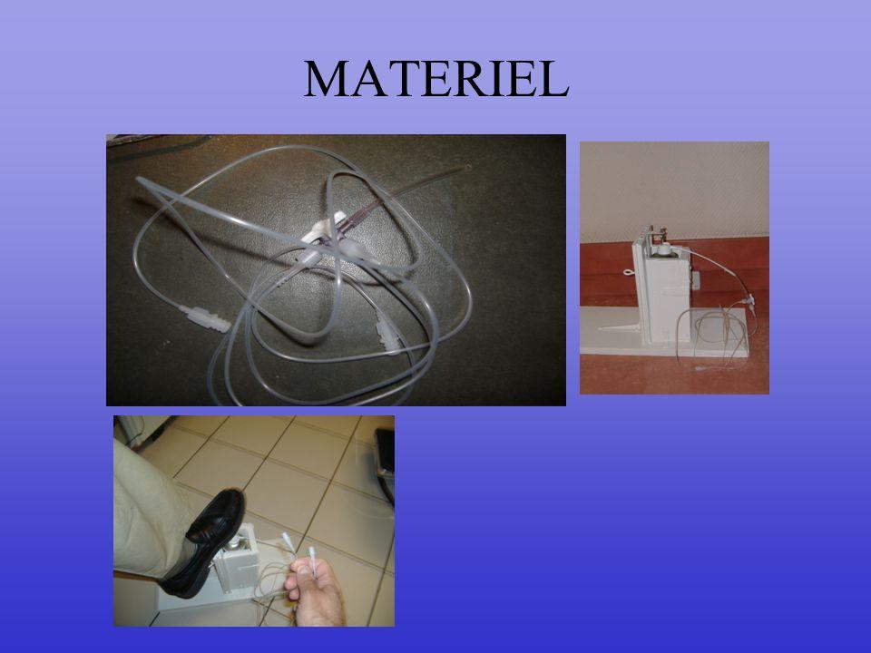 MATERIEL Le matériel avec un boitier pour déclencher l'irrigation au pied