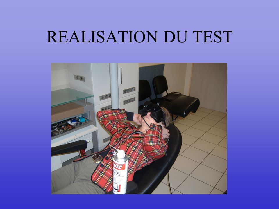 REALISATION DU TEST