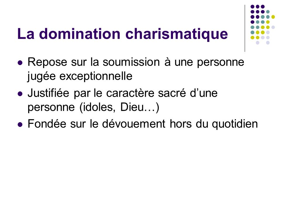 La domination charismatique