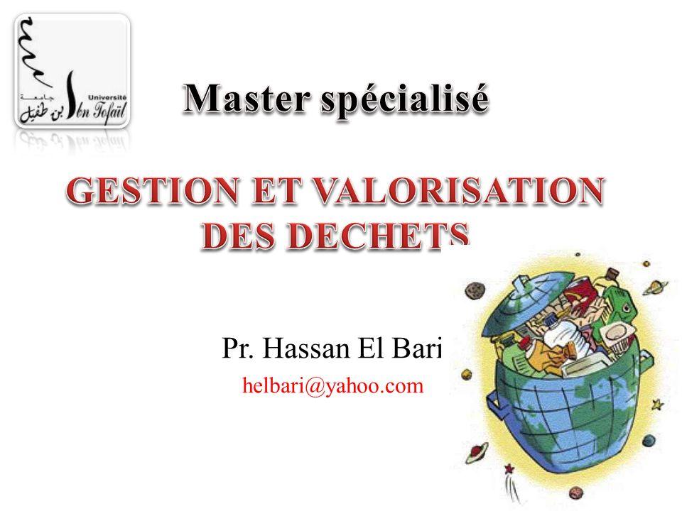 Master spécialisé GESTION ET VALORISATION DES DECHETS