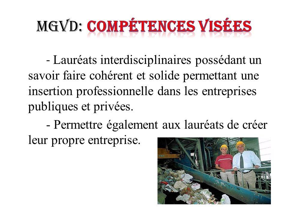 MGVD: Compétences Visées