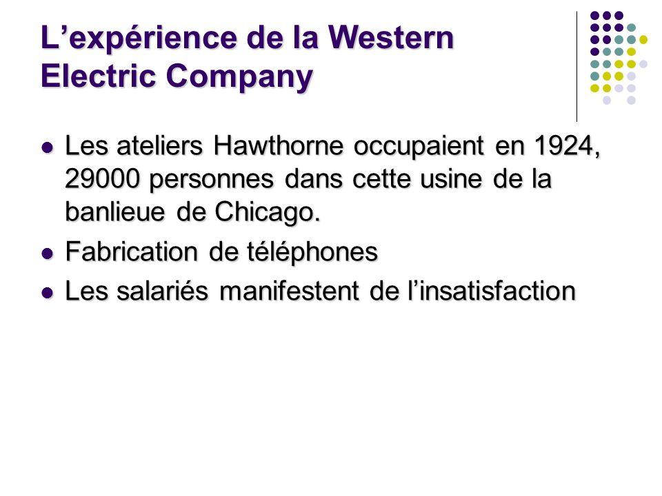L'expérience de la Western Electric Company