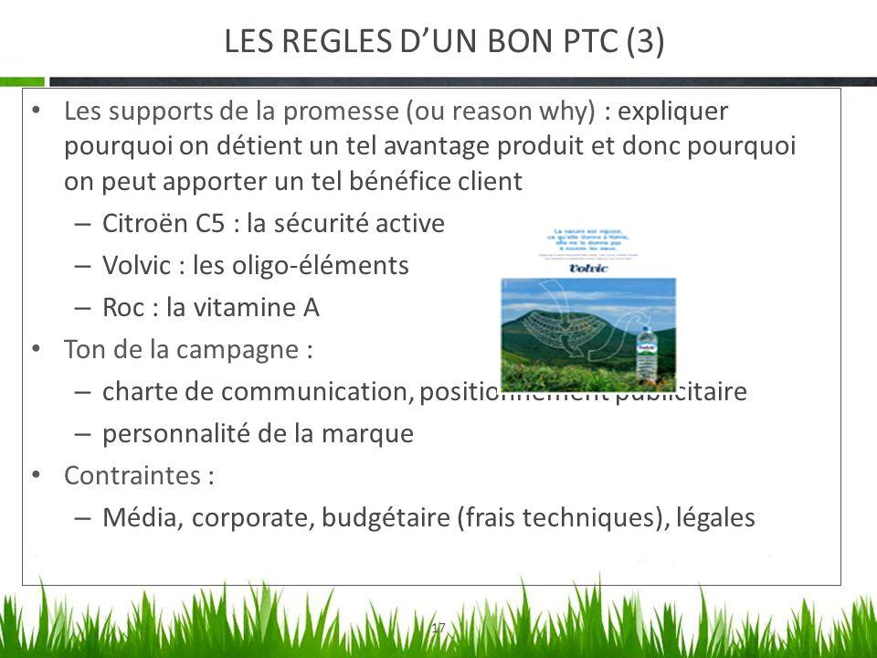 LES REGLES D'UN BON PTC (3)