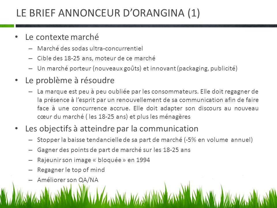 LE BRIEF ANNONCEUR D'ORANGINA (1)