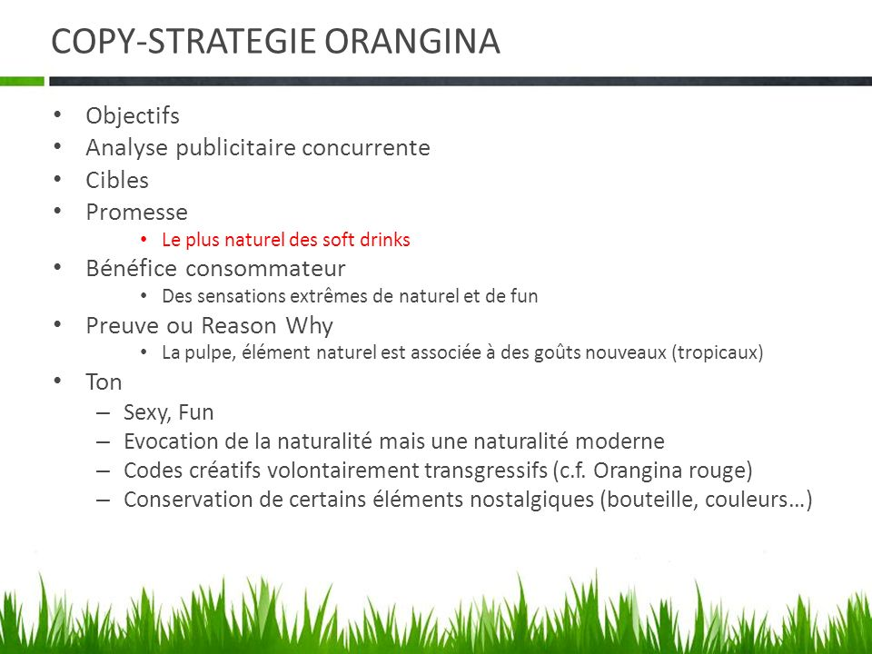 COPY-STRATEGIE ORANGINA