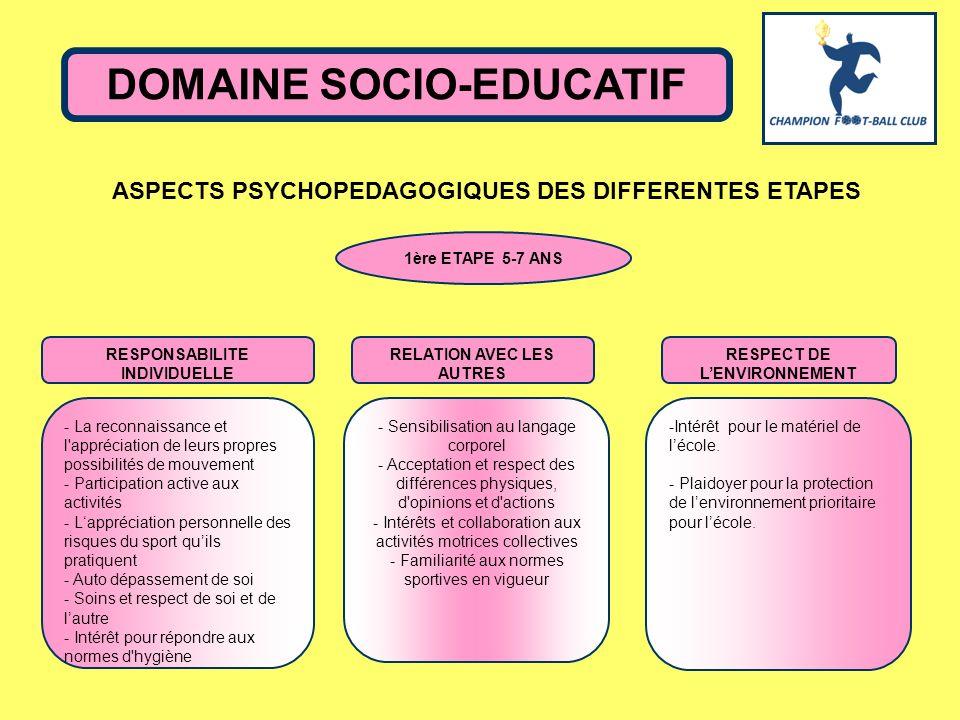 DOMAINE SOCIO-EDUCATIF