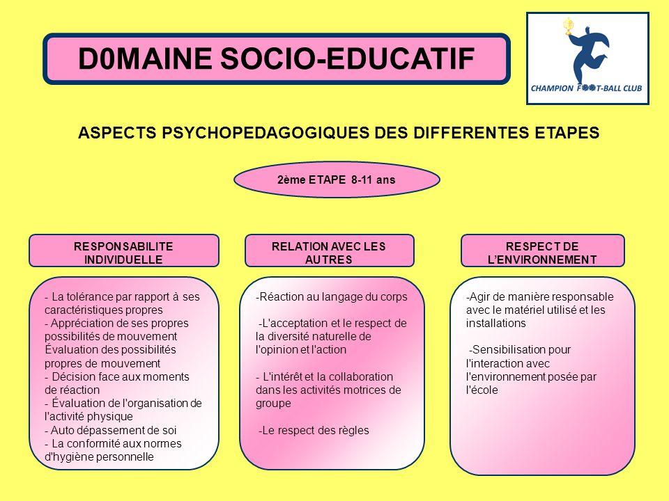 D0MAINE SOCIO-EDUCATIF