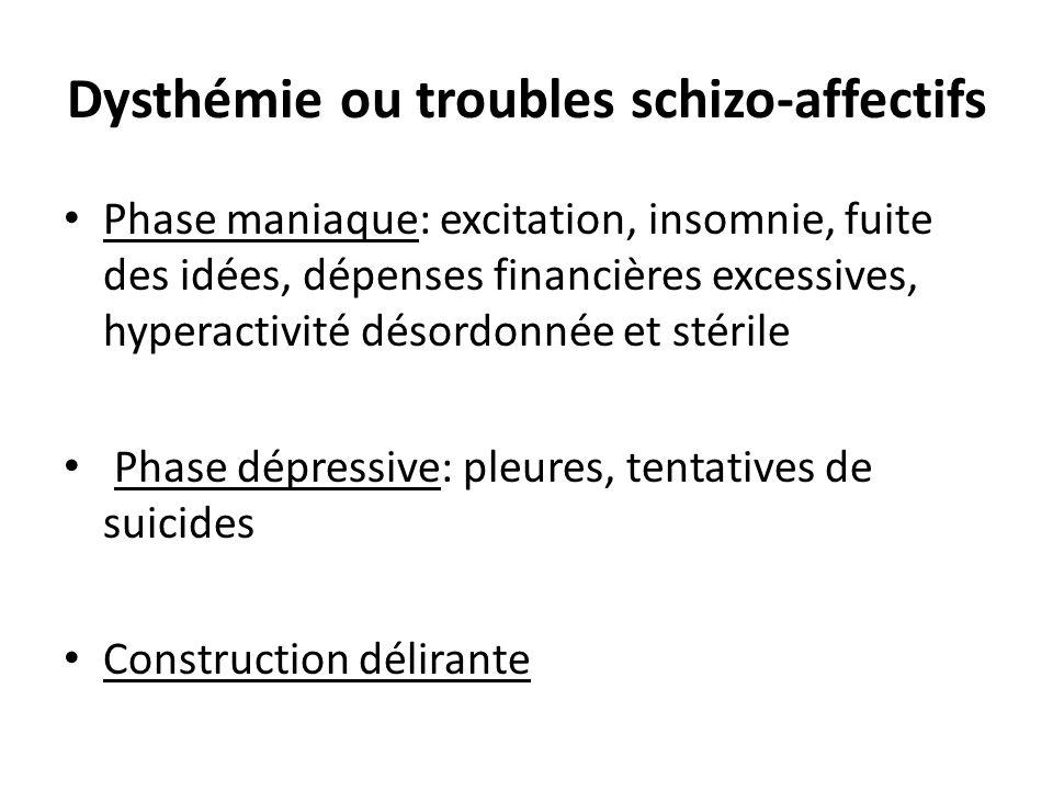 Dysthémie ou troubles schizo-affectifs