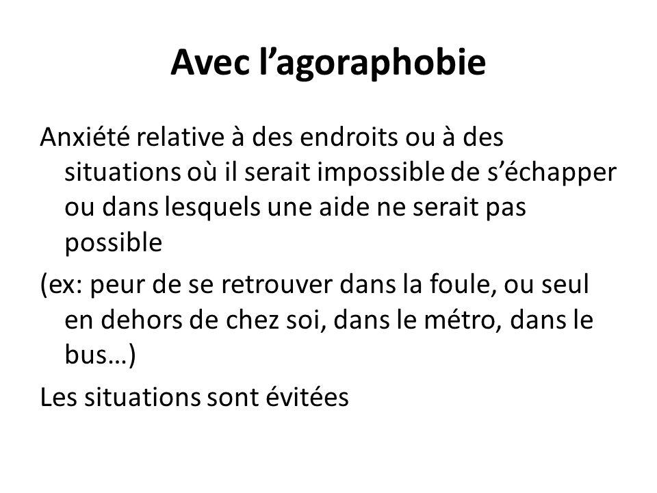 Avec l'agoraphobie