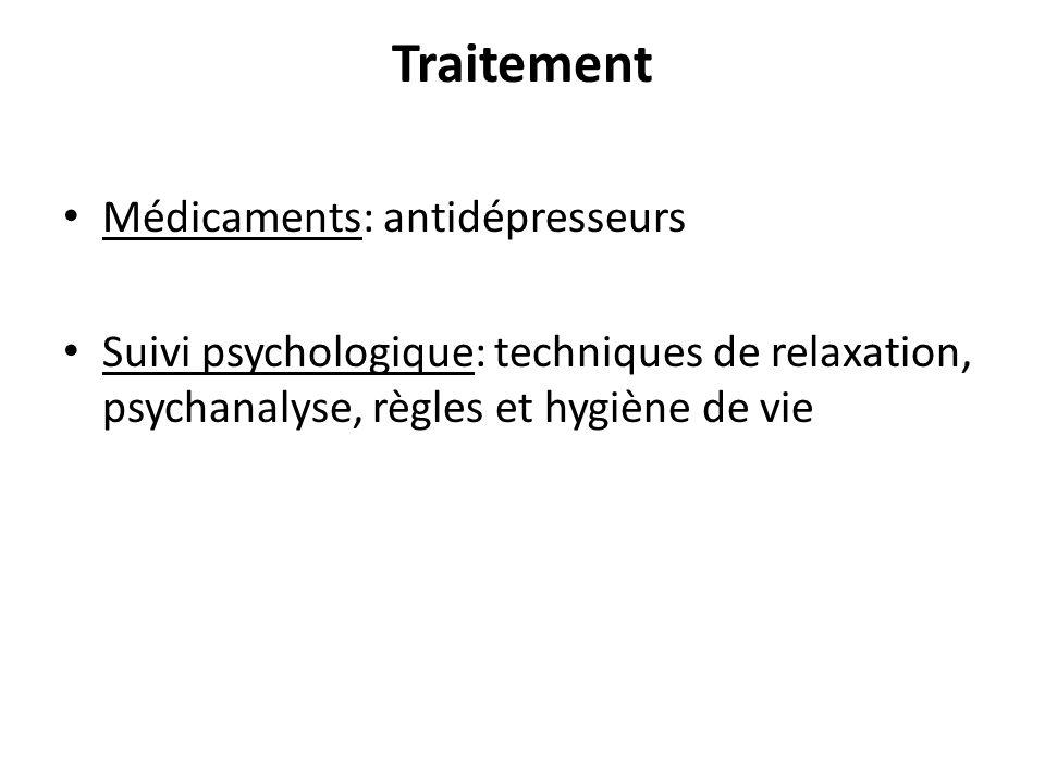 Traitement Médicaments: antidépresseurs