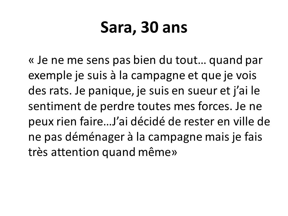 Sara, 30 ans