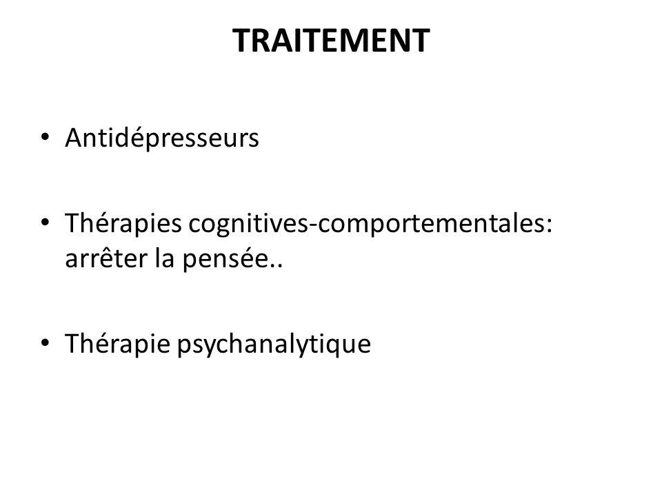 TRAITEMENT Antidépresseurs