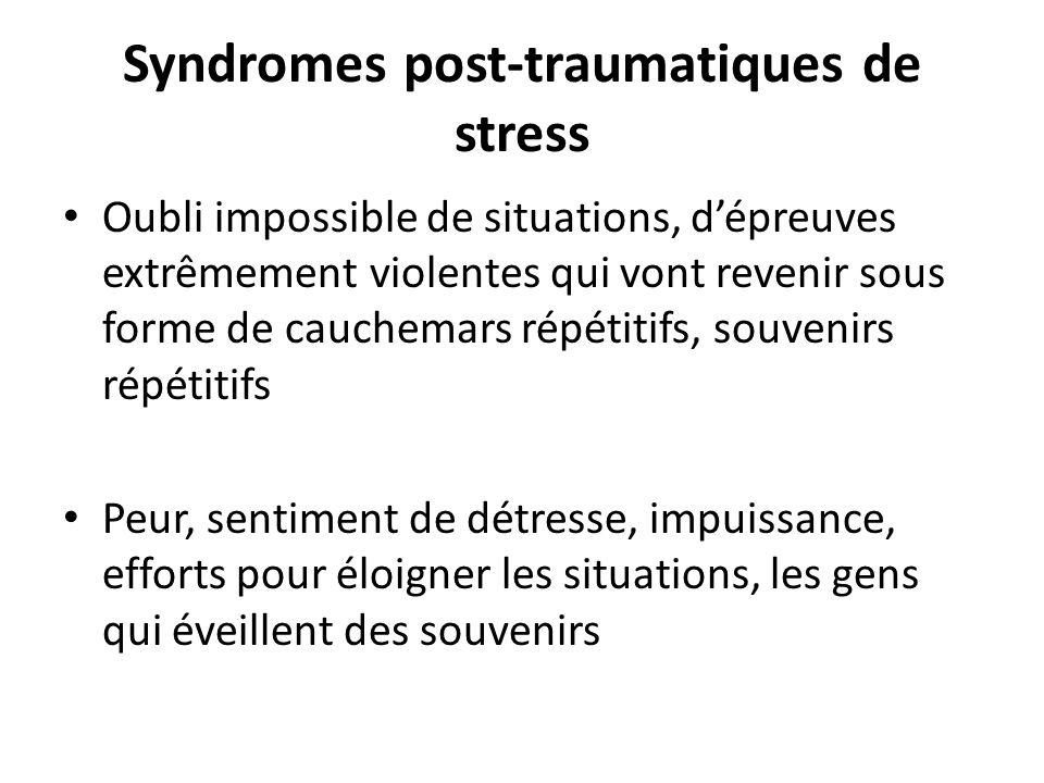 Syndromes post-traumatiques de stress