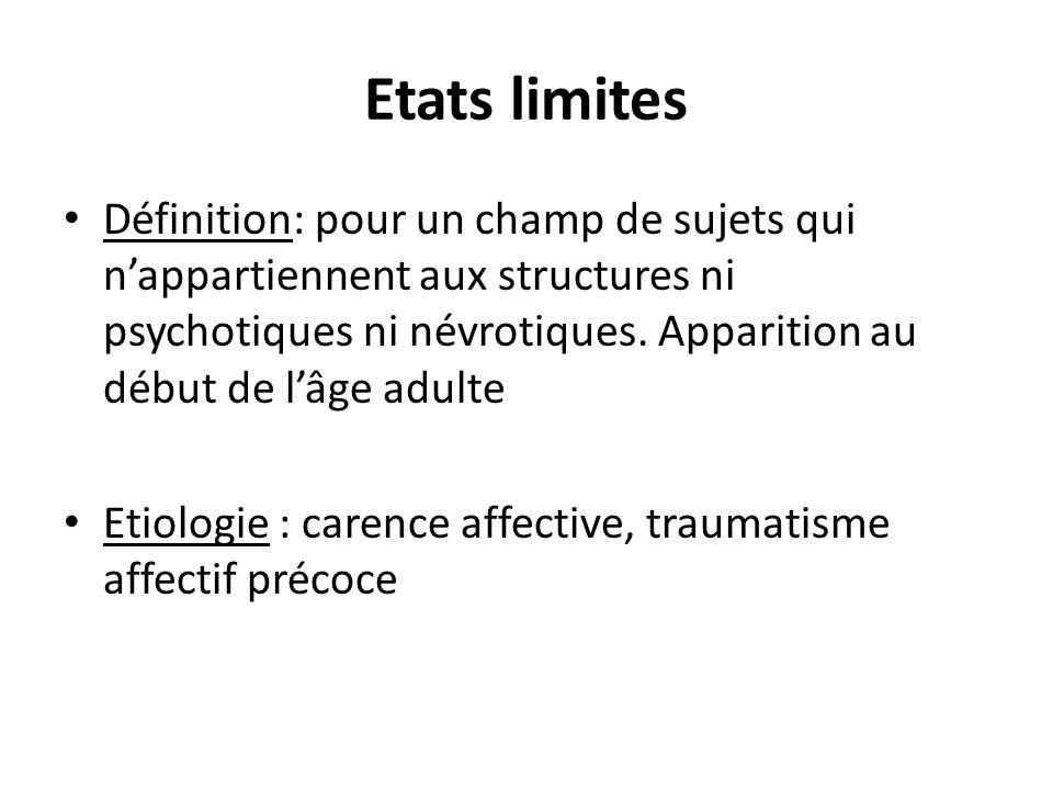 Etats limites