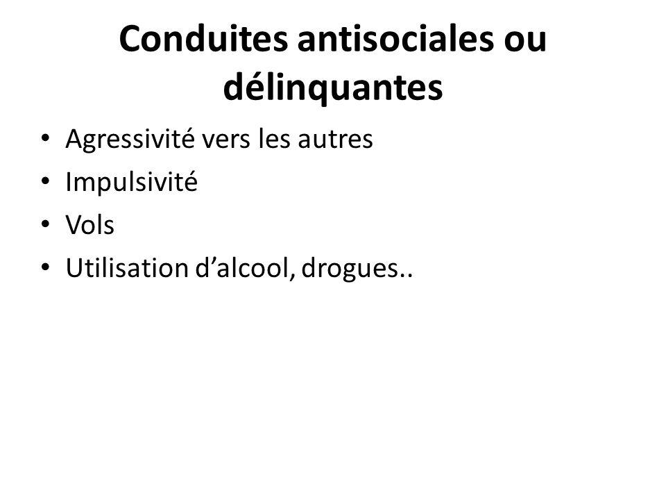 Conduites antisociales ou délinquantes