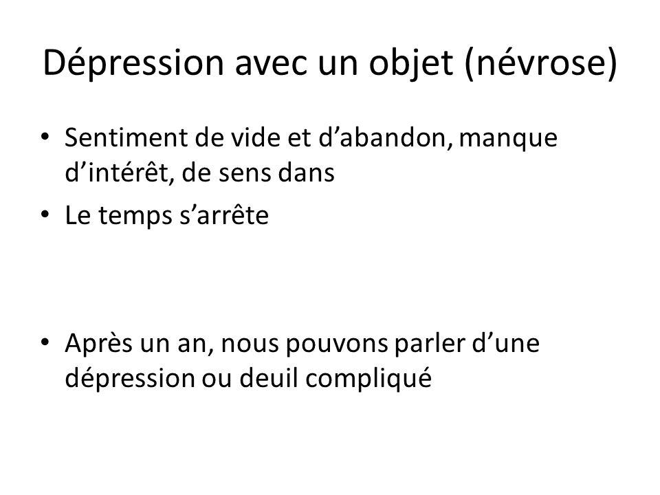 Dépression avec un objet (névrose)