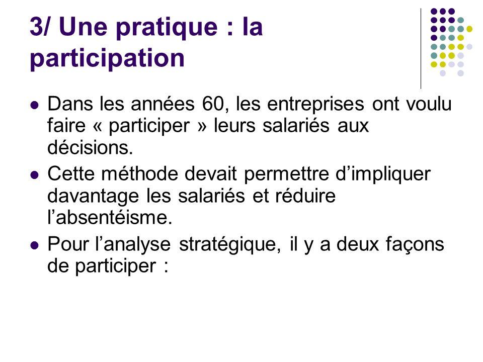 3/ Une pratique : la participation