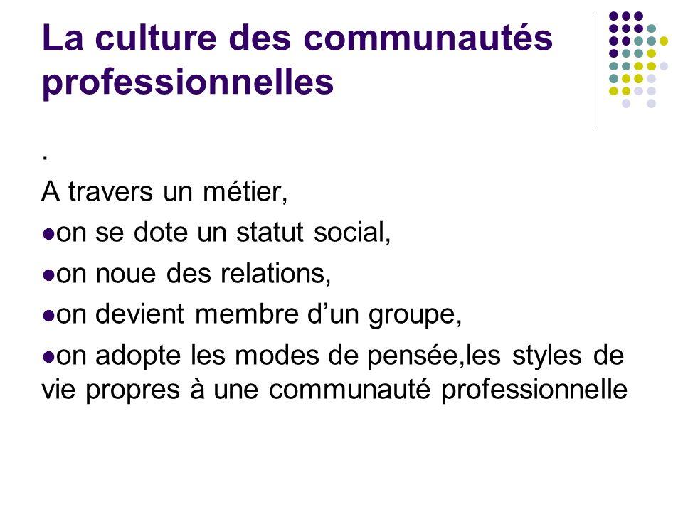 La culture des communautés professionnelles