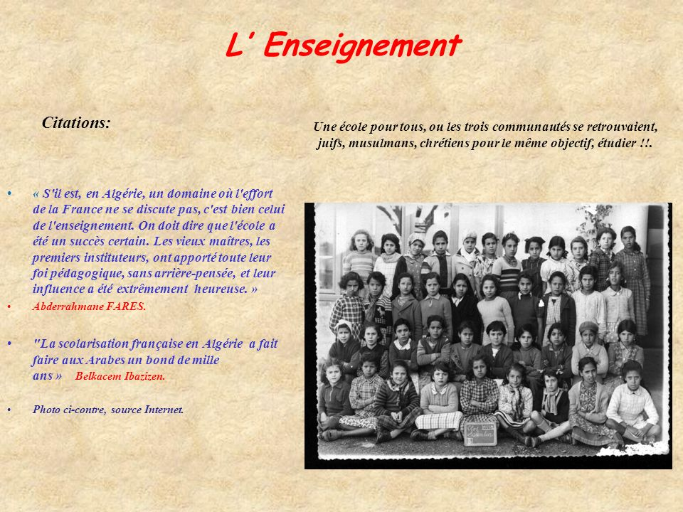L' Enseignement Citations:
