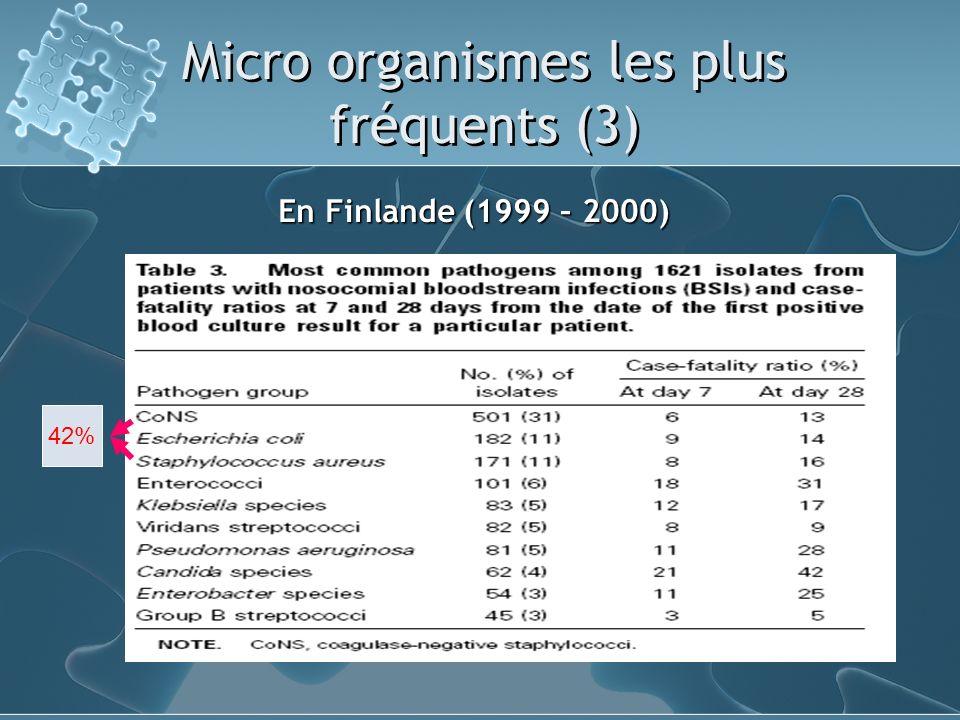 Micro organismes les plus fréquents (3)