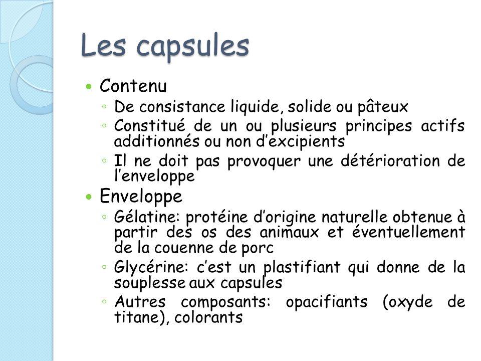 Les capsules Contenu Enveloppe