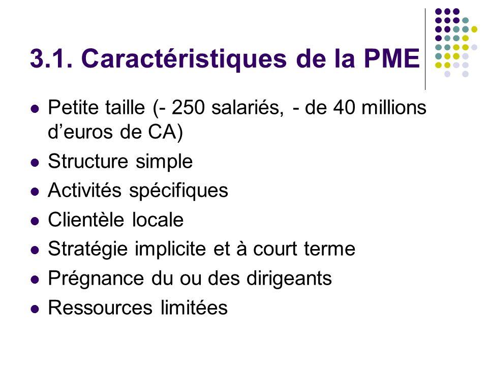 3.1. Caractéristiques de la PME